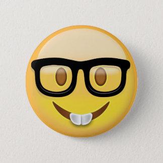 Badge Rond 5 Cm Visage nerd Emoji