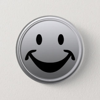 Badge Rond 5 Cm Visage souriant drôle + votre backg. et idées