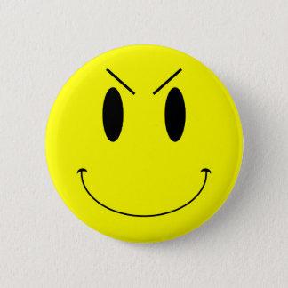 Badge Rond 5 Cm Visage souriant mauvais jaune de KRW