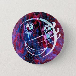Badge Rond 5 Cm Visage souriant multicolore