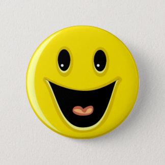 Badge Rond 5 Cm Visage souriant riant
