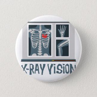 Badge Rond 5 Cm Vision de rayon X