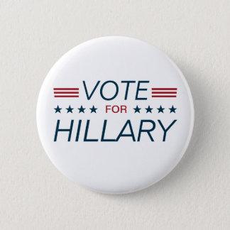 Badge Rond 5 Cm Vote Hillary pour le président 2016