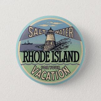 Badge Rond 5 Cm Voyage vintage d'Île de Rhode