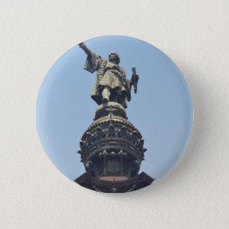 Badge Rond 5 Cm Voyagent le monde - Columbus précisant à la mer