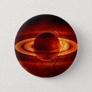 Badge Rond 5 Cm Vue unique de Saturn