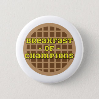 Badge Rond 5 Cm Waffle_Breakfast des champions