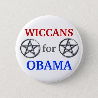Badge Rond 5 Cm Wiccans pour le bouton d'Obama 2012