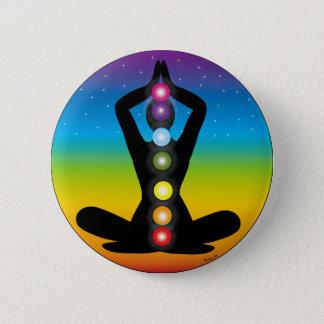 Badge Rond 5 Cm Yoga