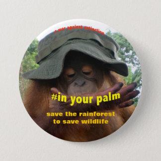 Badge Rond 7,6 Cm Activiste de conservation pour le bien-être des
