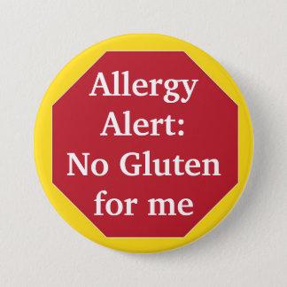 Badge Rond 7,6 Cm Alerte d'allergie :  Aucun gluten