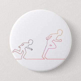 Badge Rond 7,6 Cm Ambition d'enfance de garçon et chasse de ses