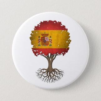 Badge Rond 7,6 Cm Arbre de drapeau de la vie espagnol