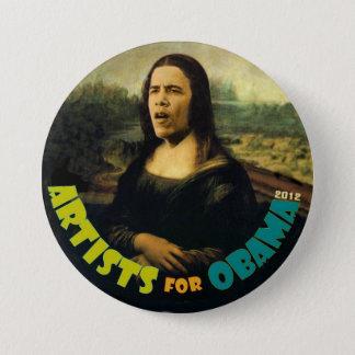 Badge Rond 7,6 Cm Artistes pour Obama : La nouvelle Mona Lisa