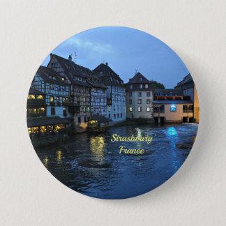 Badge Rond 7,6 Cm Beau Strasbourg, France