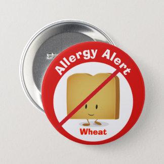 Badge Rond 7,6 Cm Blé vigilant du bouton | d'allergie