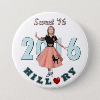 Badge Rond 7,6 Cm Bonbon '16 à Hillary