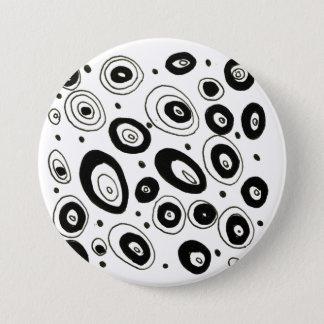 Badge Rond 7,6 Cm Bouton créatif de concepteurs : noir et blanc