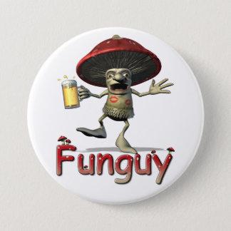 Badge Rond 7,6 Cm Bouton de champignon de Funguy
