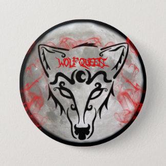 Badge Rond 7,6 Cm Bouton de la Reine de loup