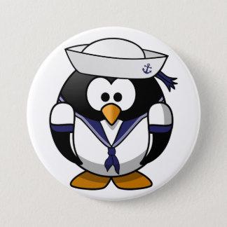 Badge Rond 7,6 Cm Bouton de marin de pingouin