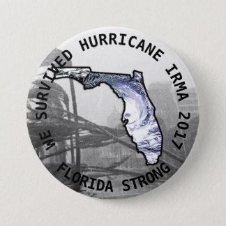 Badge Rond 7,6 Cm Bouton d'IRMA 2017 d'ouragan fort de la Floride