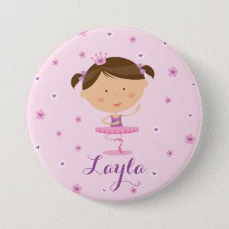 Badge Rond 7,6 Cm Bouton mignon de fille de ballerine de danseur