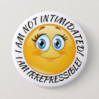 Badge Rond 7,6 Cm Bouton non intimidé de sourire de fille