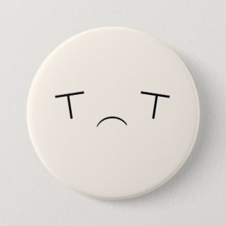 Badge Rond 7,6 Cm Bouton triste superbe de Kawaii Emoji