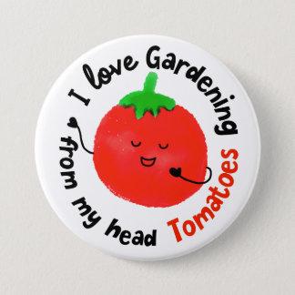 Badge Rond 7,6 Cm Calembour positif de tomate - de mes tomates