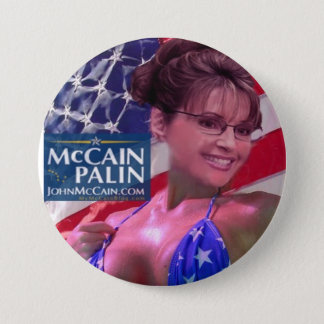 Badge Rond 7,6 Cm Caribou Barbi - Sarah Palin