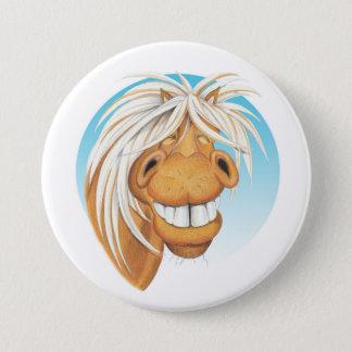 """Badge Rond 7,6 Cm Compagnon de cheval d'Equi-toons """"Chappie"""