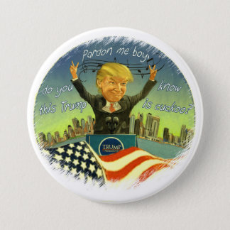 Badge Rond 7,6 Cm Donald Trump est coucou
