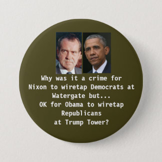 Badge Rond 7,6 Cm Écoute de tour d'atout contre Watergate