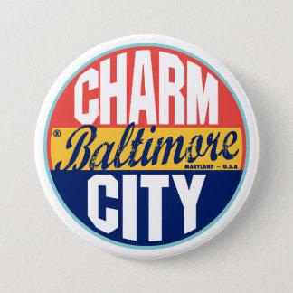 Badge Rond 7,6 Cm Étiquette vintage de Baltimore