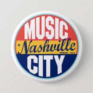 Badge Rond 7,6 Cm Étiquette vintage de Nashville