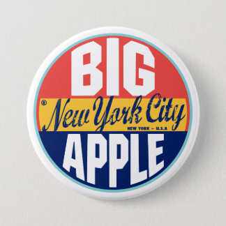 Badge Rond 7,6 Cm Étiquette vintage de New York