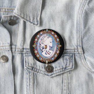 Badge Rond 7,6 Cm Fille de Goth
