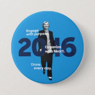 Badge Rond 7,6 Cm Hillary (bourdon chaque jour)