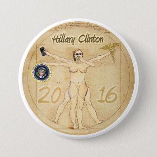 Badge Rond 7,6 Cm Hillary Clinton : Femme de Vitruvian