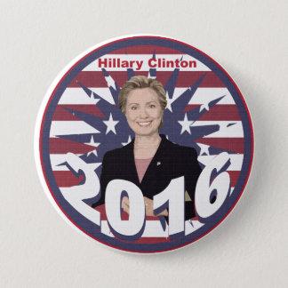 Badge Rond 7,6 Cm Hillary Clinton pour le président 2016