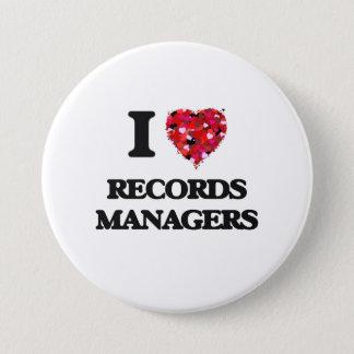 Badge Rond 7,6 Cm J'aime des directeurs de disques