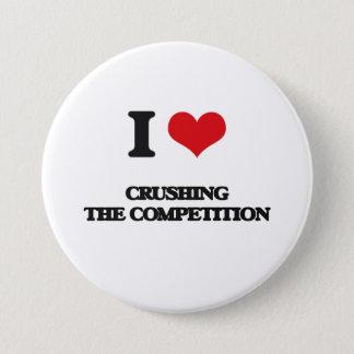 Badge Rond 7,6 Cm J'aime écraser la concurrence