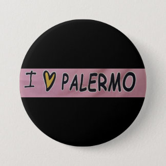 Badge Rond 7,6 Cm J'aime la conception de Palerme