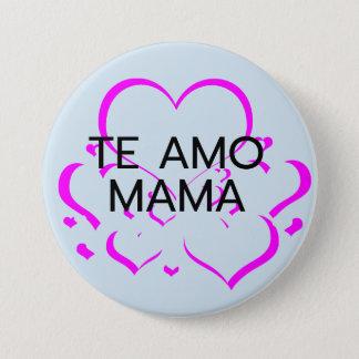 Badge Rond 7,6 Cm le bouton de jour de mères de maman d'AMO de te