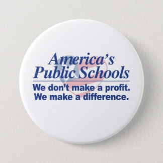 Badge Rond 7,6 Cm Les écoles de l'Etat de l'Amérique font un bouton