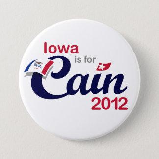 Badge Rond 7,6 Cm L'Iowa est pour Caïn ! - Caïn 2012