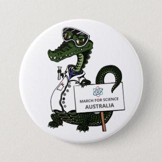 Badge Rond 7,6 Cm Mars pour la Science Australie - crocodile -