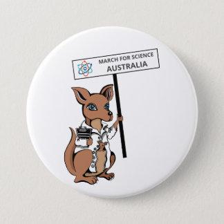 Badge Rond 7,6 Cm Mars pour la Science Australie - kangourou -