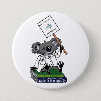 Badge Rond 7,6 Cm Mars pour la Science Australie - koala